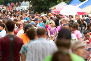 Huge Crowd Moves Through Summer Festival In Atlanta