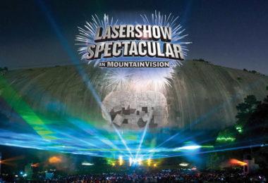 Lumières et lasers sur la montagne