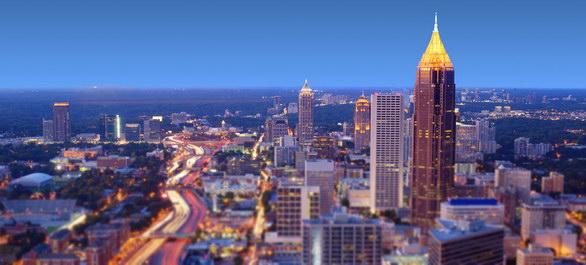 Lumières sur Atlanta et sa région pendant les Fêtes
