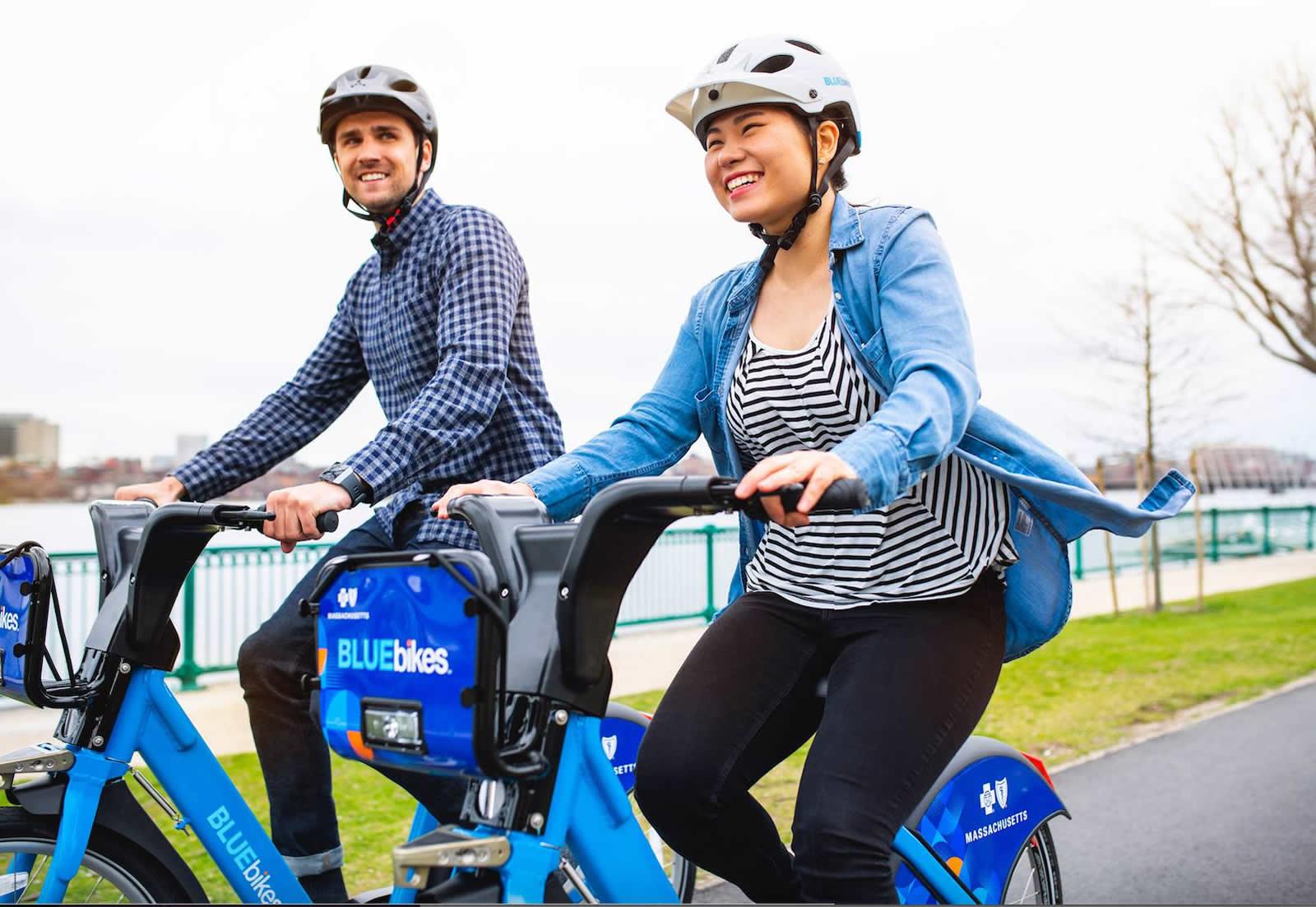 Les Blue Bikes, les vélos à temps partagé à Boston