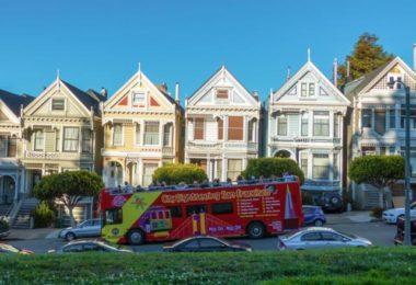 San Francisco à bord d'un bus à toit ouvert !