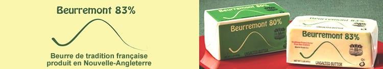 Beurremont - beurre francais aux Etats-Unis