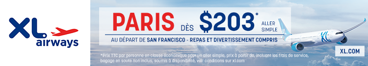 XL Airways - San Francisco Paris - banner