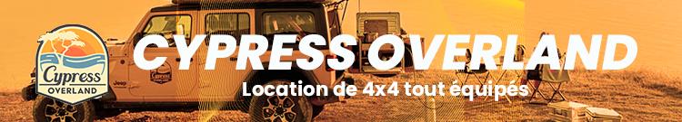 Cypress Overland | Location de 4×4 tout équipés