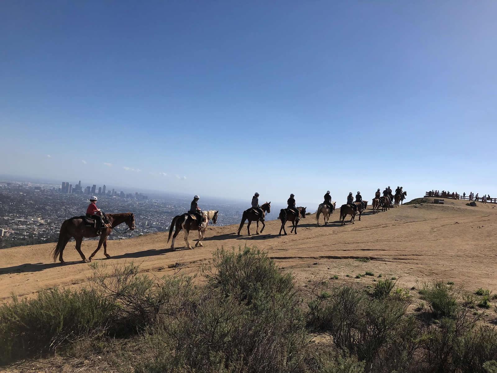 Faire du cheval à Los Angeles