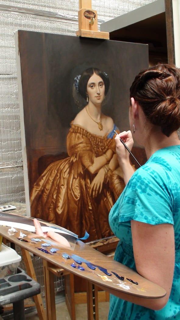 La peinture comme les Grands Maîtres