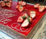 Gâteau rosé pour une maman comblée