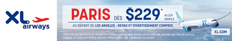 XL Airways - Los Angeles Paris - banner