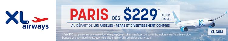 XL Airways – Los Angeles Paris – banner