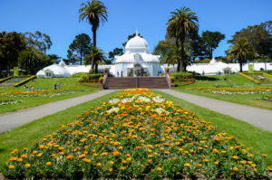 one of famous place in San Francisco, The Conservatory of Flowers