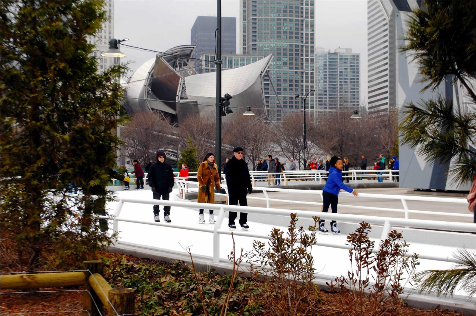 Quelques patinoires à Chicago