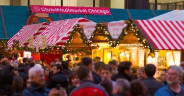 Le Christkindlmarket - Marché de Noël allemand sur le Daley Plaza à Chicago