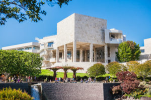 LOS ANGELES, USA - JUNE, 2015: The Central Garden at the Getty Center. The Getty Center is a campus of the Getty Museum and other programs of the Getty Trust. Usa