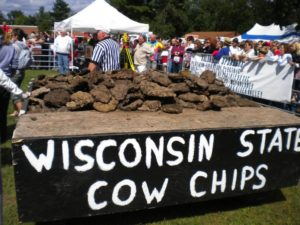 cow chip throw festival