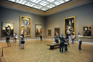CHICAGO, IL – MARCH 18: Visitors admire European art inside the Art Institute of Chicago on March 18, 2012 in Chicago, Illinois