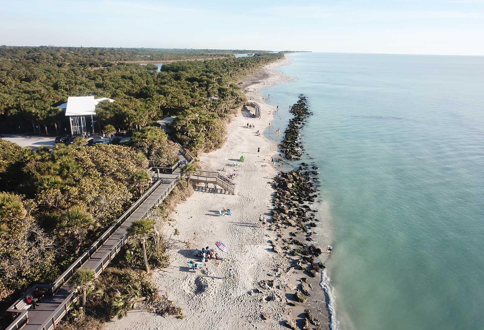 Caspersen Beach, la plage aux fossiles à Venice