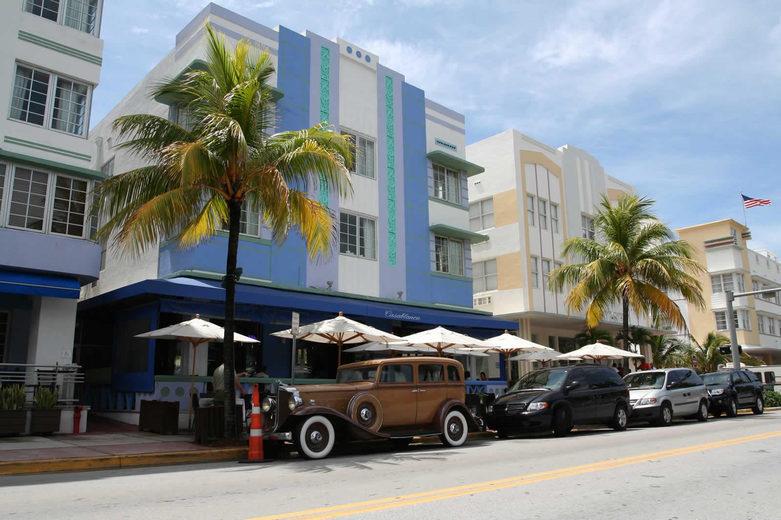 Deco A Tous Les Etages l'art deco à miami beach - immeubles, hôtels art deco à