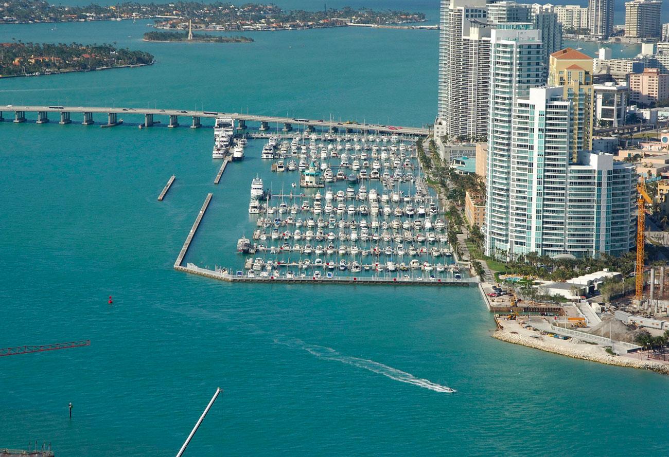 Les marinas à Miami