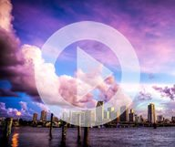 Le ciel de Miami, en accéléré