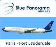 Blue Panorama Airlines lance l'ouverture d'une ligne Paris CDG – Fort Lauderdale à partir du 27 juin 2013
