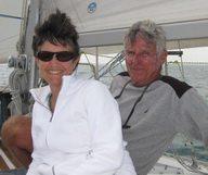 """Ellen Sokol et Jean Claude Wyszynski '"""" Découvrez le sud de la Floride à bord d'un voilier ! - membre du French District"""