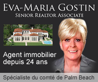 Eva Maria Gostin - comte de palm beach - propriétés sur front de mer - agent immobilier