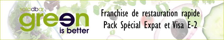 Green Is Better® Salad Restaurant Franchise tout compris + Visa E2
