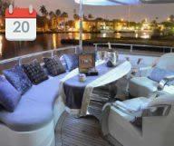 Soirée Black and White sur le luxueux Lady J Yacht