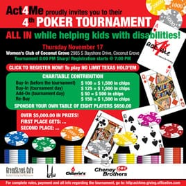 Tournoi de Poker Act4Me