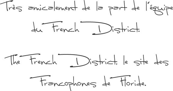 The French District - Articles Floride Insolite