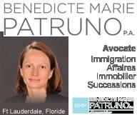 Avocat d'immigration, successions et immobilier à fort lauderdale, Benedicte Marie Patruno