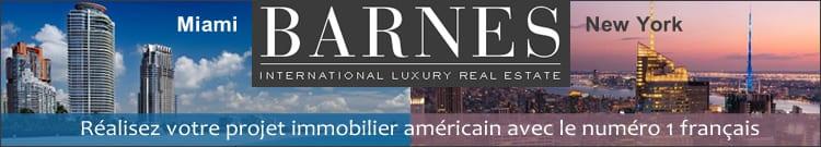 Agence immobilière de prestige implantée à Miami et à New York, Barnes vous écoute.