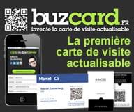Buz card est le createur de la premiere carte de visite actualisable, la Buz card classic et la Buz Card Forever
