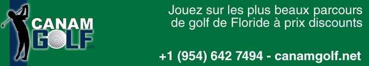 CANAM Golf, reductions et tarifs spéciaux pour parcours de Golf en Floride