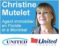 Christine Mutelet est agent immobilier à Boynton Beach et à Montreal et s'occupe des financements