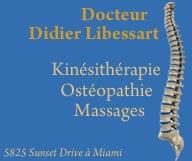 Docteur Didier Libessart et Docteur Alain Mounoury. South Miami et Aventura. Ostéopathe, Kinésithérapeute, Massages