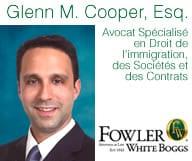 Glenn Cooper, Avocat de Floride spécialisé dans le droit d'immigration, des visas, des sociétés et des contrats.