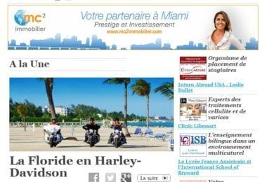 La newsletter French District Floride du Jeudi 11 Décembre 2014 - La Floride en Harley-Davidson