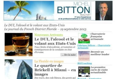 La newsletter French District Floride du Jeudi 19 Septembre 2013 - Le DUI