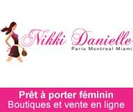 Nikki Danielle boutique de pret a porter feminin. En ligne et a Bal Harbour à Miami