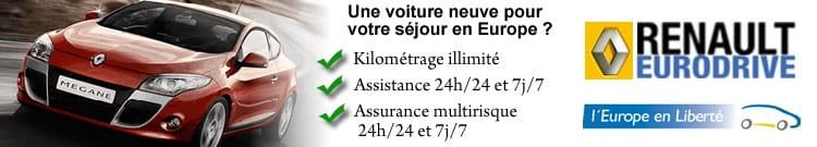 Renault Eurodrive Véhicules Neufs pour votre sejour en Europe