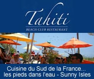 Tahiti Beach Club un restaurant méditerranéen sur la plage de Sunny Isles à proximité de Miami Beach