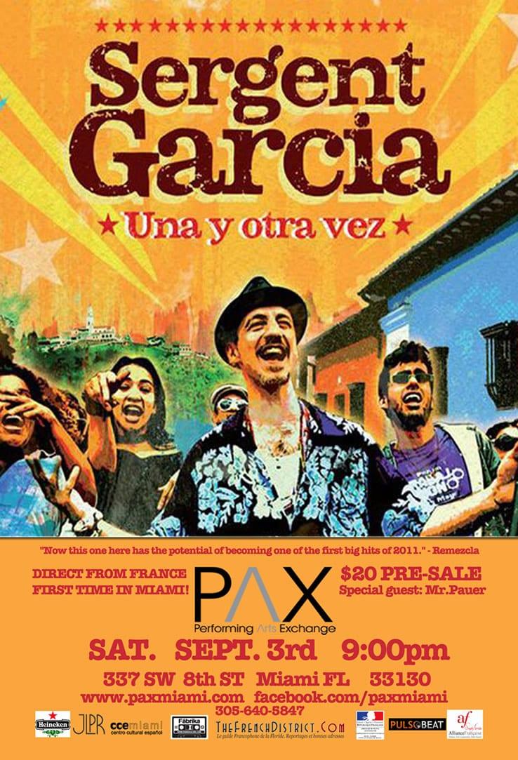 Sergent Garcia en concert a PAX a Miami