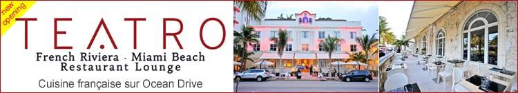 Teatro restaurant francais Ocean Drive