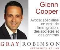 Glenn M. Cooper, Avocat