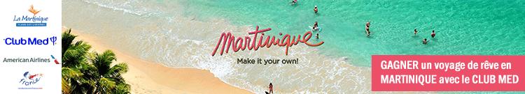 Visiter la Martinique et gagner un voyage pour deux personnes au départ des Etats-Unis