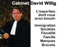 Cabinet d'avocat David S. WILLIG, Chartered