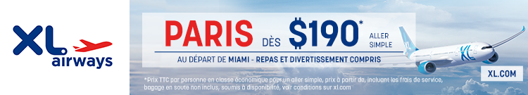 XL Airways - Miami Paris - banner