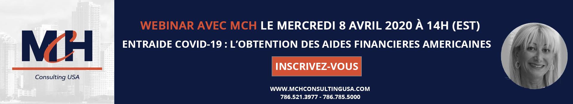 Aides financières webinar banner