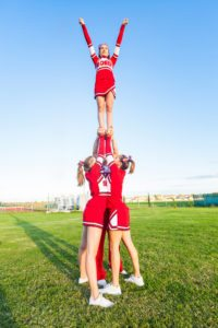 Group of Cheerleaders in the Field